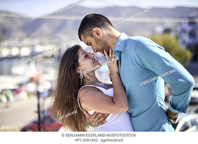 couple during holiday in Chersonissos, Crete, Greece, enjoying love