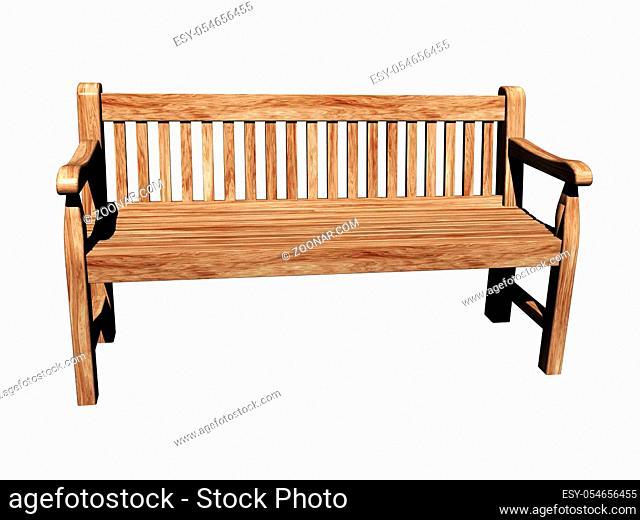 Holzbank steht im Park