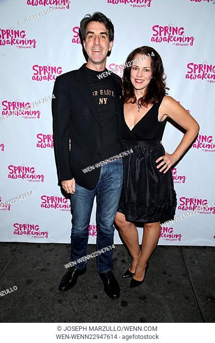 Opening night for Spring Awakening at the Brooks Atkinson Theatre - Arrivals. Featuring: Jason Robert Brown, Georgia Stitt Where: New York City, New York