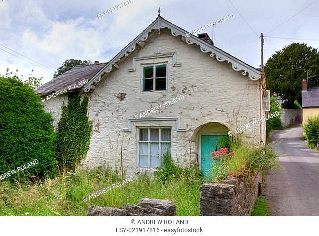 Overgrown cottage, England