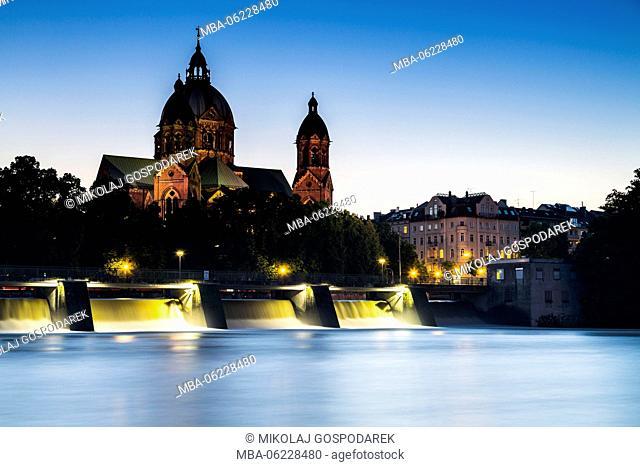 Germany, Bavaria, St, Luke's Church, Munich, City