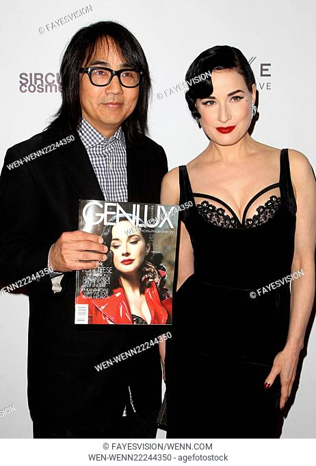 Dita Von Teese hosts Genlux Issue Release Event at Luxe Hotel Featuring: Steven Kamafuji, Dita Von Teese Where: Beverly Hills, California