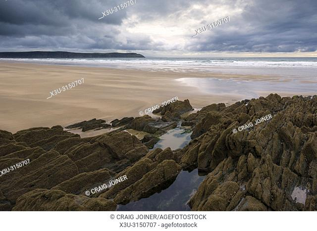 Woolacombe Sand on the North Devon coastline, England