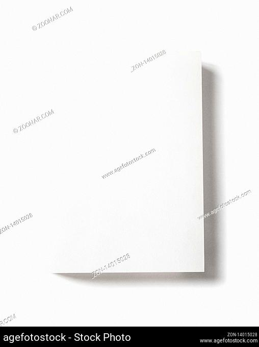 Closed blank book mockup, isolated on white
