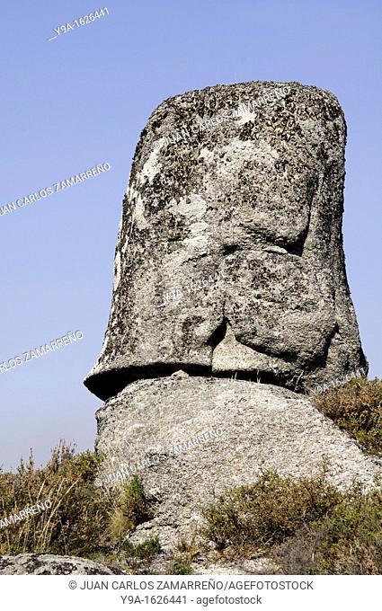 Strange tubular rock at Castro Laboreiro, Peneda Geres National Park, Melgaco, Braga, Minho, Portugal