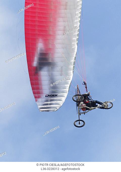 Poland. Motorized Hang glider