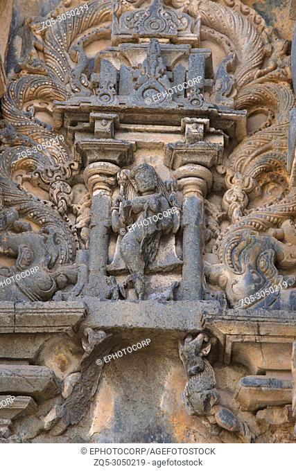 Kashivishvanatha Temple, Lakundi, Karnataka State, India. Inscriptions and motifs