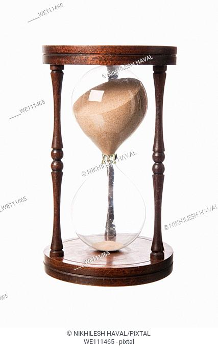 Vintage old wooden Hourglass