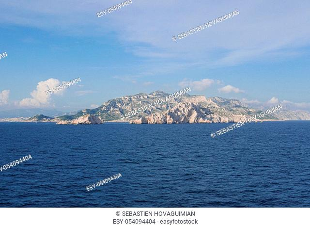 Holidays in southern Corsica..Discovery of the Sanguinaires Islands, next to the city of Ajaccio