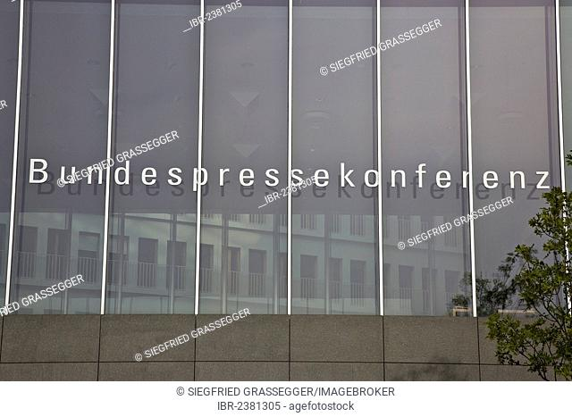 The building of the Bundespressekonferenz or Federal Press Conference in Berlin, Germany, Europe