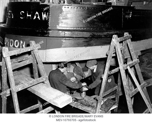 Massey Shaw fireboat under repair