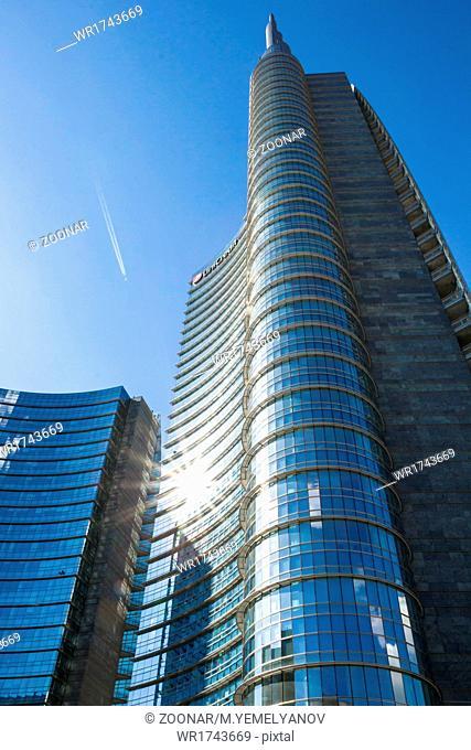 Milan, Italy - May 18. 2014: Unicredit tower