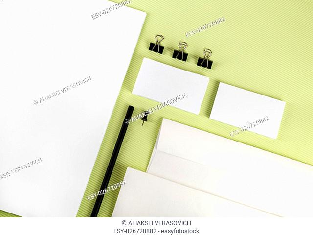 Stationery and corporate id template. Top view