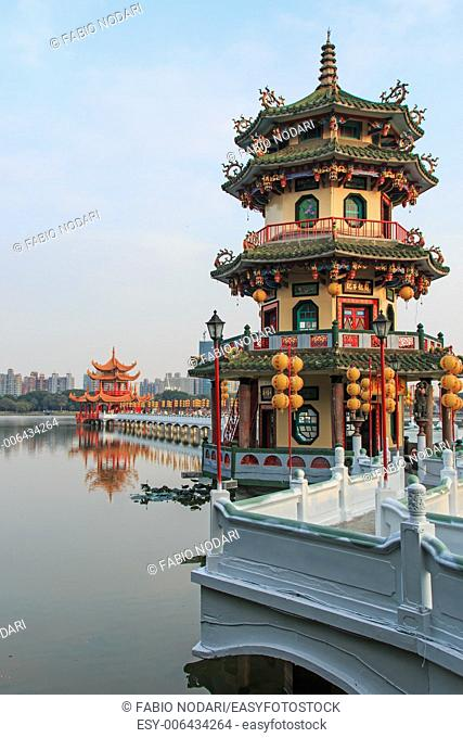 Spring and Autumn Pavilions, Lotus Pond, Kahosiung