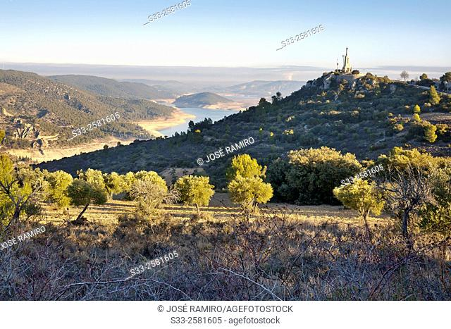 France cliff in Sacedon. Guadalajara. Castilla la Mancha. Spain. Europe