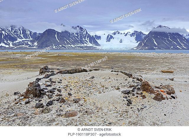 17th century remains of blubber ovens from Dutch whalers at Smeerenburg on Amsterdam Island / Amsterdamøya, Svalbard / Spitsbergen, Norway