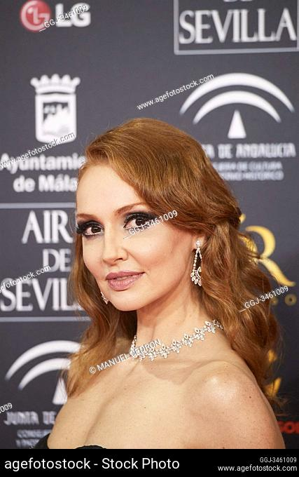 Cristina Castano attends 34th Goya Cinema Awards 2020 - Red Carpet at Jose Maria Martin Carpena Stadium on January 26, 2020 in Malaga, Spain