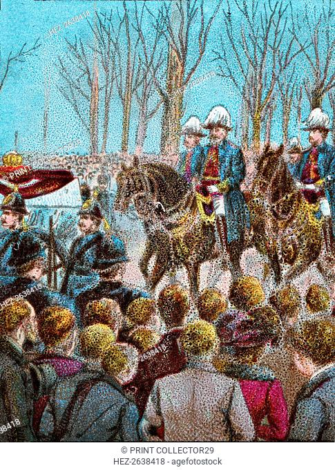 'The Funeral Cortege of Queen Victoria followed by King Edward VII', 1901 (c1902). Artist: Unknown