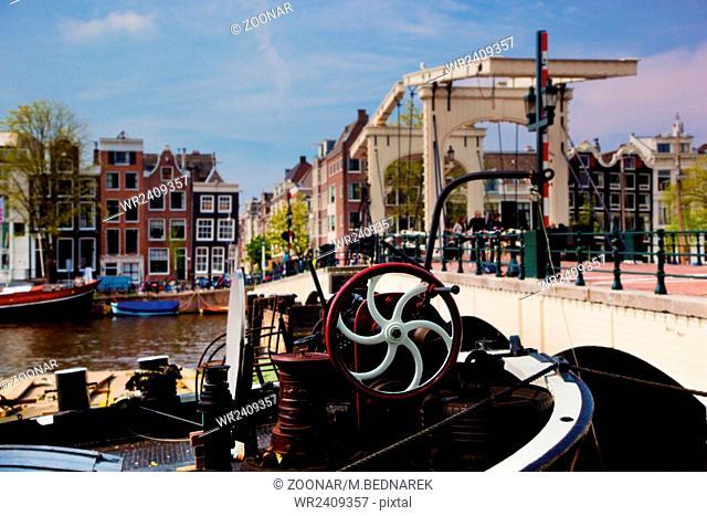 The Magere Brug, Skinny Bridge. Amsterdam
