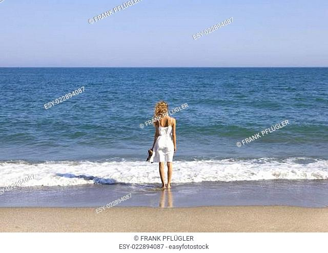 Vacationer overlooking the sea