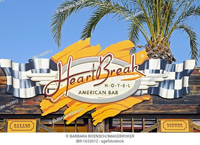Heartbreak Hotel, trendy bar, cult cafe, music bar, restaurant, beach promenade, Albir, Altea Costa Blanca, Alicante, Spain, Europe