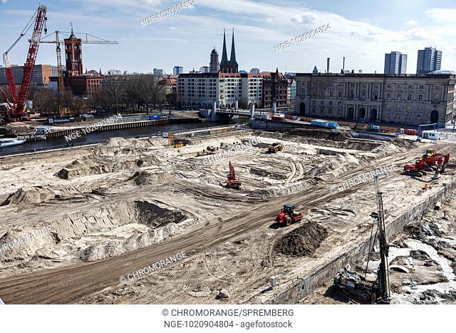 Excavation at the Schlossplatz in Berlin