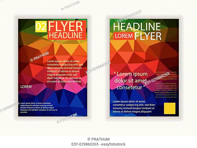Abstract brochure design.Flyer design vector in A4 size