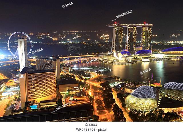 Night View of Marina Bay Sands, Singapore