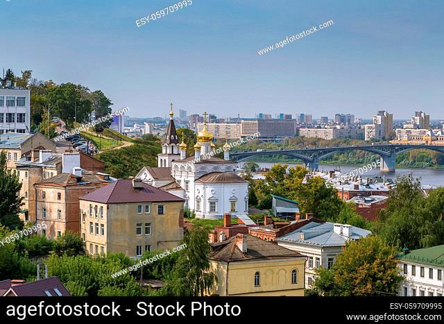 View of Nizhny Novgorod with Church of Elijah the Prophet, Russia