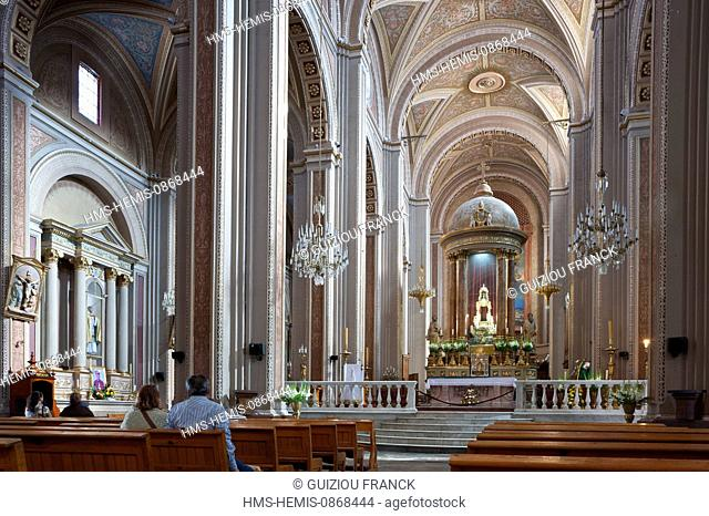 Mexico, Michoacan state, Morelia, listed as World Heritage by UNESCO, the 17th century cathedral