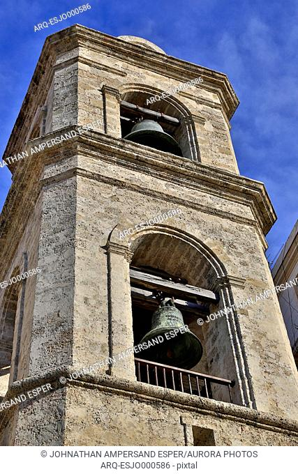 Low Angle View Of Bell On The Plaza De La Catedral, Old Havana, Cuba
