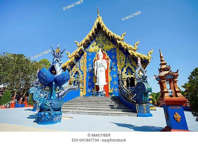 CHIANG RAI, THAILAND - December 20, 2017: Very beautiful sculpture in the Wat Rong Sua Ten or Rong Sua Ten temple. This place is the popular attraction for...