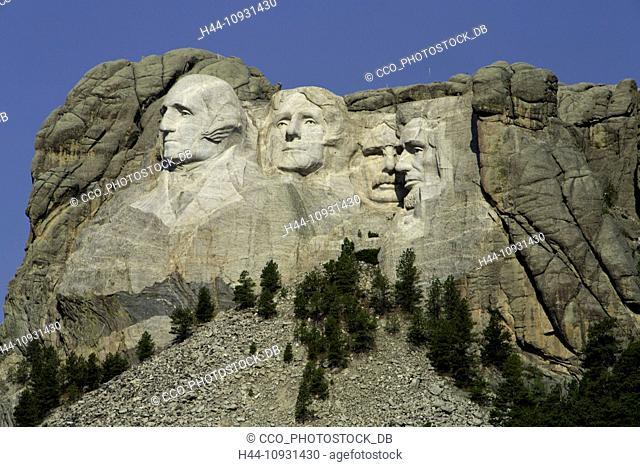 USA, United States, America, Mount Rushmore, Black Hills, SD, South Dakota, National Memorial, sculpture, president, Washington, Jefferson, Roosevelt, Lincoln