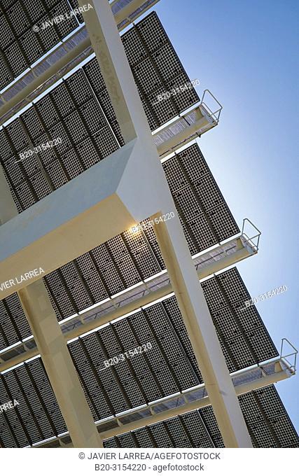 Photovoltaic pergola, by Elias Torres & José Antonio Martínez Lapeña, Forum, Barcelona, Catalunya, Spain, Europe