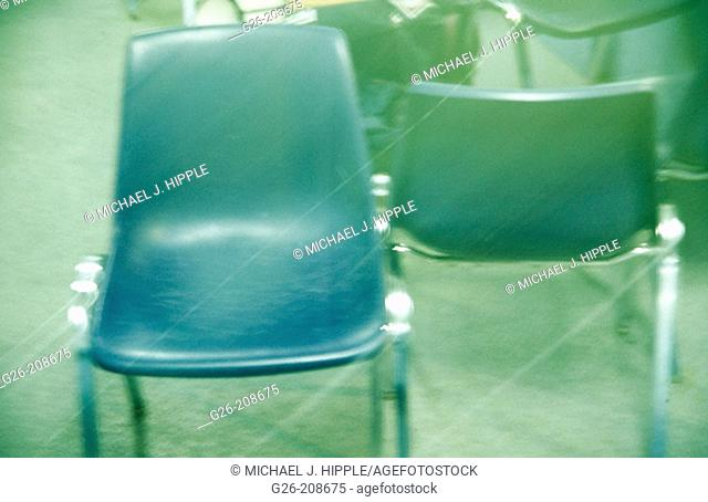 Chairs at hockey rink