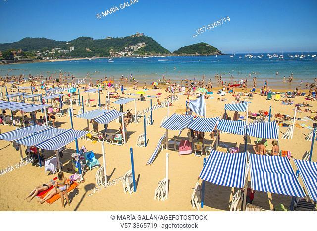 La Concha beach. San Sebastian, Spain
