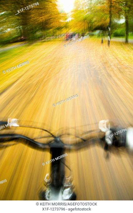 Autumn bike ride, UK