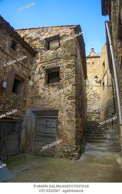 Street. Chaorna, Soria province, Castilla Leon, Spain