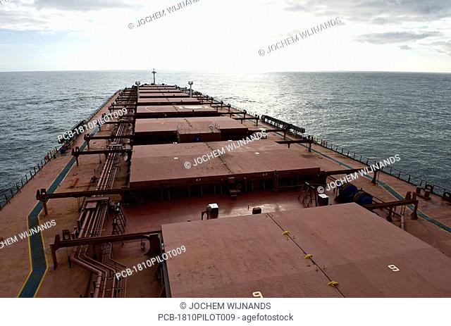 Bulk carrier on the Northsea
