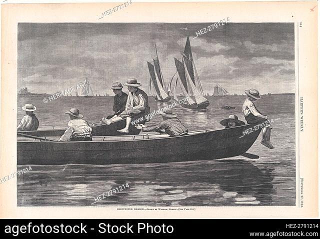Gloucester Harbor (Harper's Weekly, Vol. XVII), September 27, 1873. Creator: Unknown