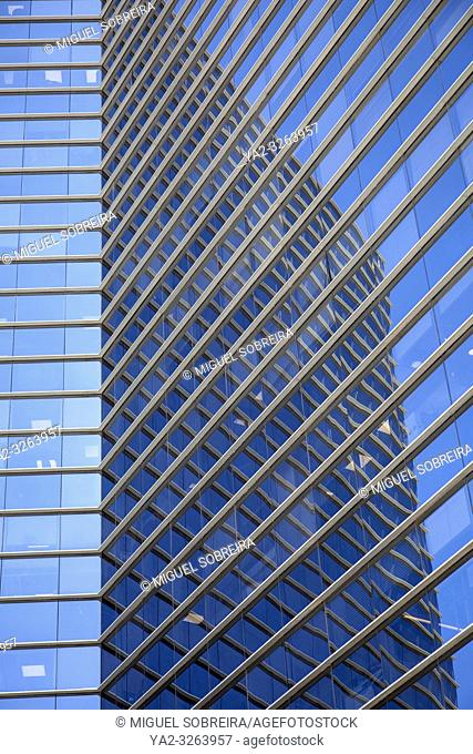 Office Block Reflection in Tel Aviv, Israel