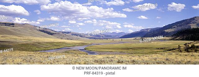 Lamar Valley Yellowstone National Park WY