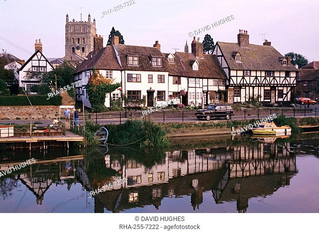 Tewkesbury and the River Severn, Gloucestershire, England, United Kingdom, Europe