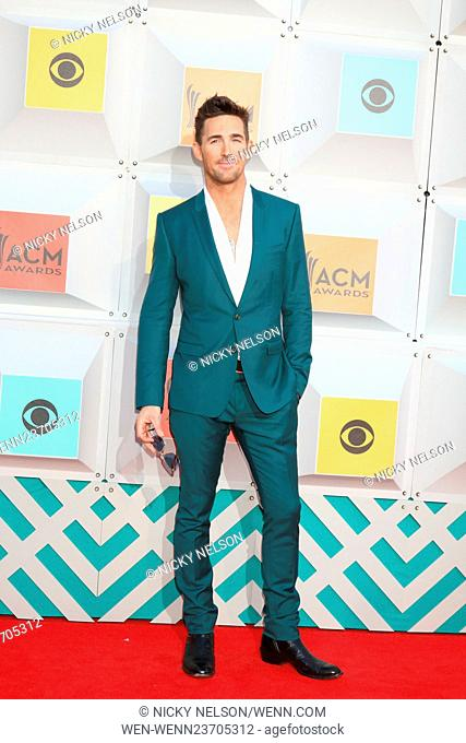51st Academy of Country Music Awards Arrivals at the MGM Grand Garden Arena on April 3, 2016 in Las Vegas, NV Featuring: Jake Owen Where: Las Vegas, Nevada