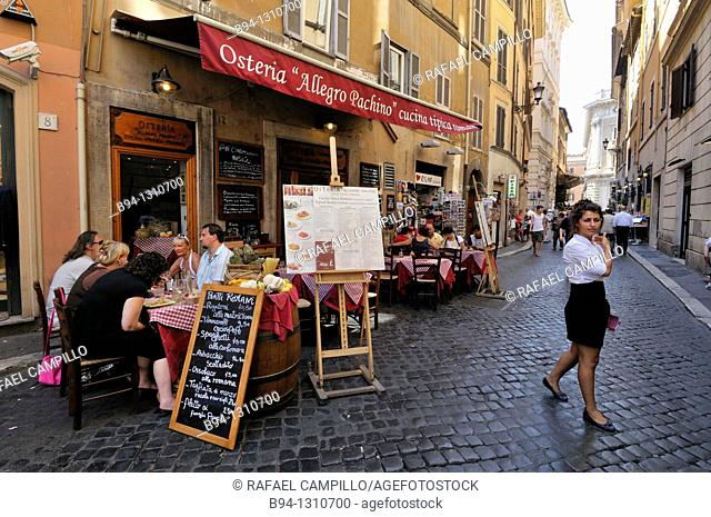 Street restaurant, Rome, Italy