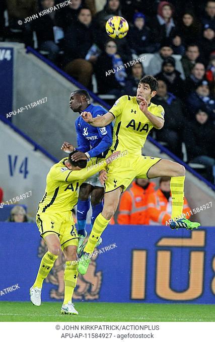 2014 Premier League Leicester City v Tottenham Hotspur Dec 26th. 26.12.2014. Leicester, England. Premier League. Leicester City versus Tottenham Hotspur