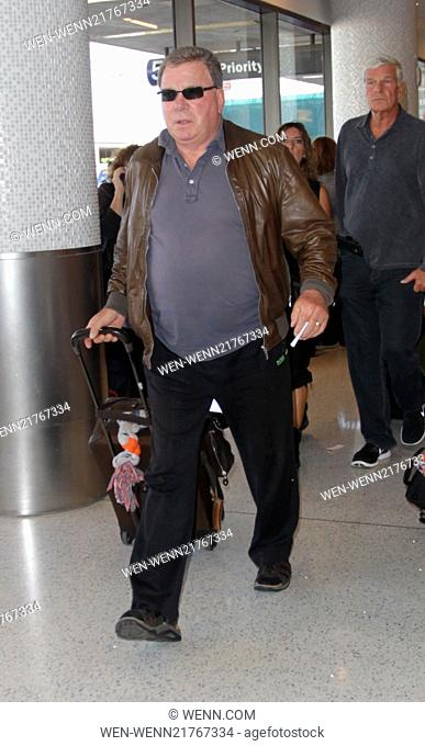 Celebrities at LAX airport Featuring: William Shatner Where: Hollywood, California, United States When: 27 Sep 2014 Credit: WENN.com