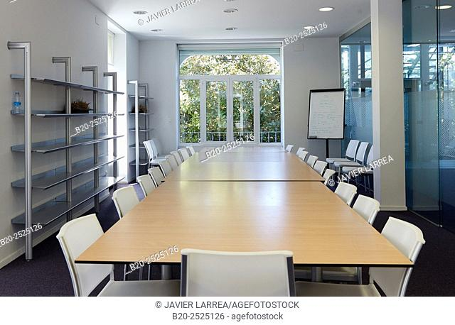 Meeting room, Office building, Villa Yeyette, Donostia, San Sebastian, Gipuzkoa, Basque Country, Spain