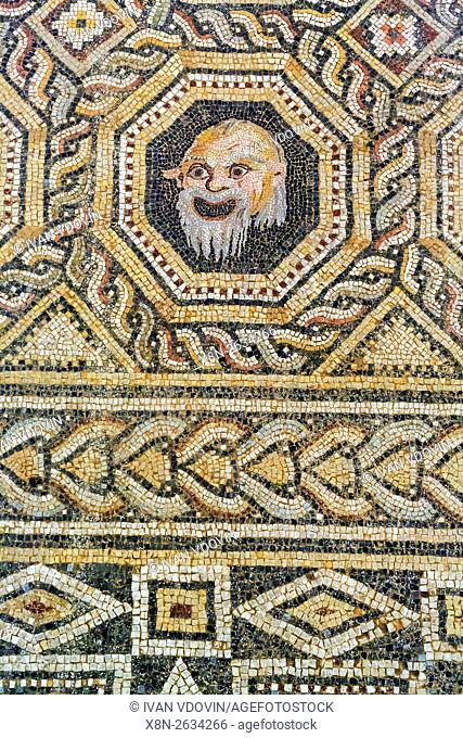 Mosaic, Pergamon, Bergama, Izmir Province, Turkey