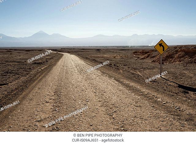 Road towards Valle de la Luna (Valley of the Moon), Atacama Desert, El Norte Grande, Chile